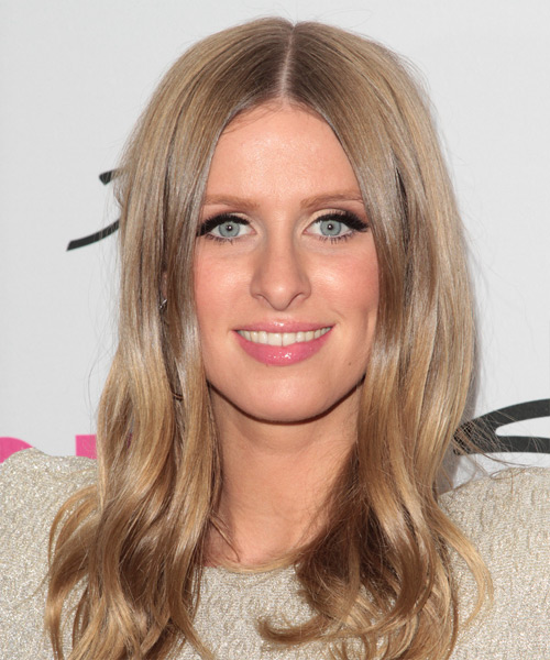Nicky Hilton Long Straight Hairstyle - Light Brunette (Caramel)