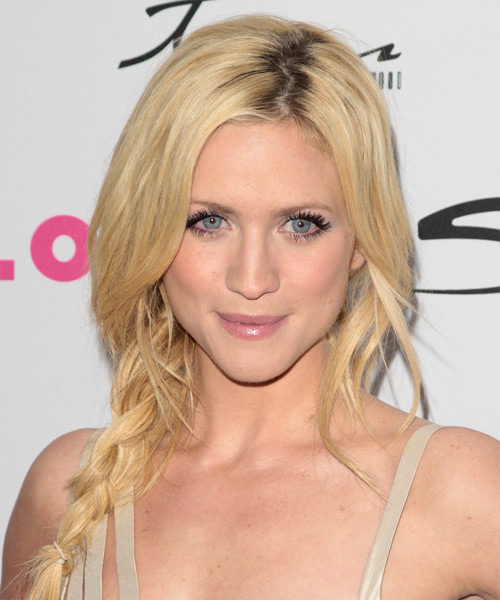 Brittany Snow Casual Curly Updo Braided Hairstyle - Light Blonde