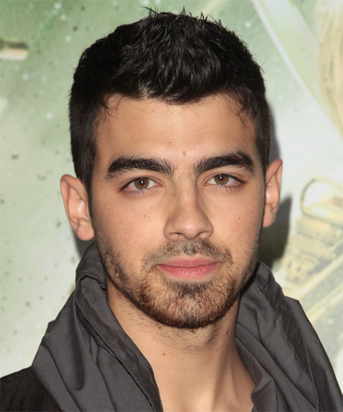 Joe Jonas Short Straight Casual Hairstyle - Dark Brunette (Mocha) Hair Color