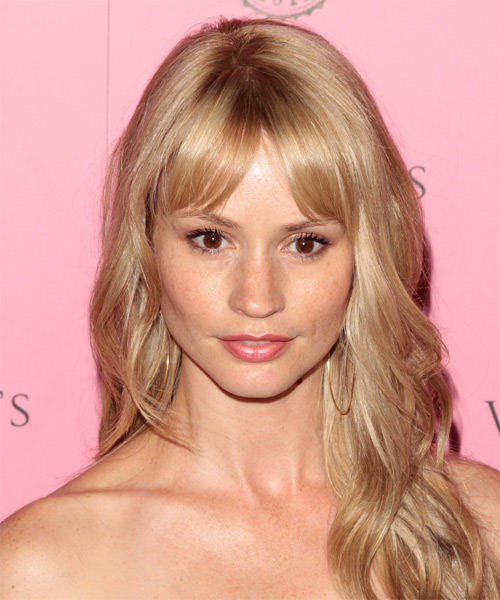 Cameron Richardson Long Wavy Hairstyle - Medium Blonde (Strawberry)