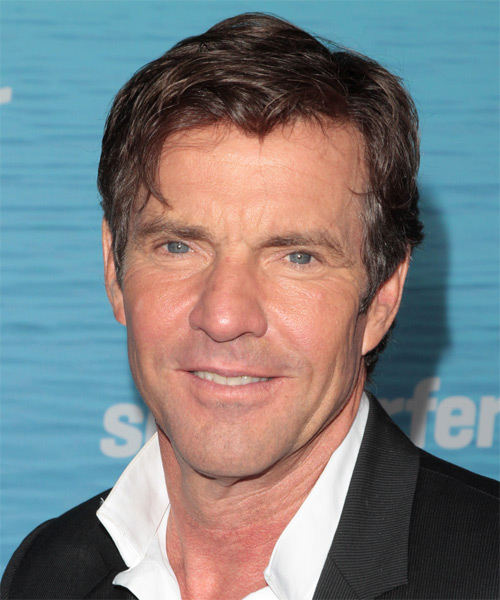 Dennis Quaid Short Straight Hairstyle - Medium Brunette