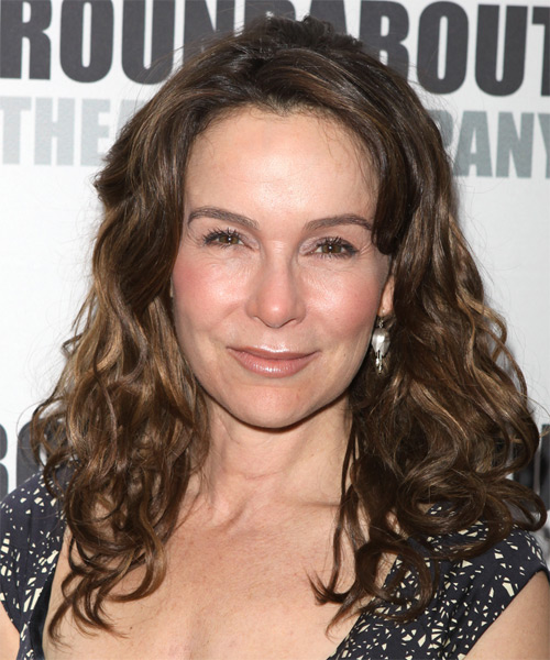 Jennifer Grey Long Wavy Hairstyle - Medium Brunette (Ash)