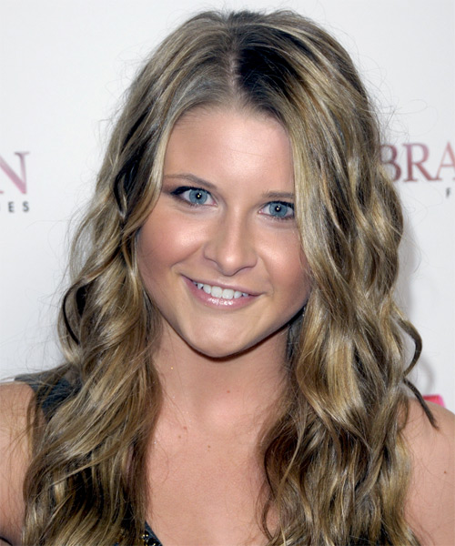 Savannah Outen Long Wavy Casual Hairstyle - Medium Blonde (Ash) Hair Color