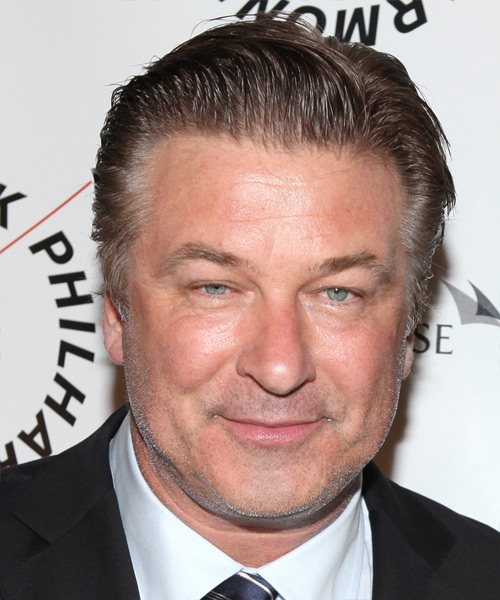 Alec Baldwin Short Straight Hairstyle - Dark Grey