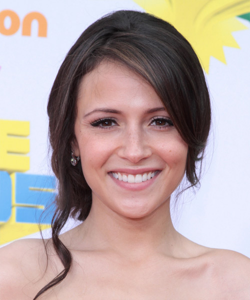 Italia Ricci Curly Formal Updo Hairstyle - Dark Brunette Hair Color