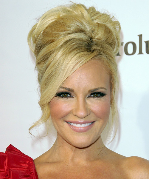 Bridget Marquardt Updo Long Curly Formal Updo Hairstyle - Medium Blonde (Golden) Hair Color