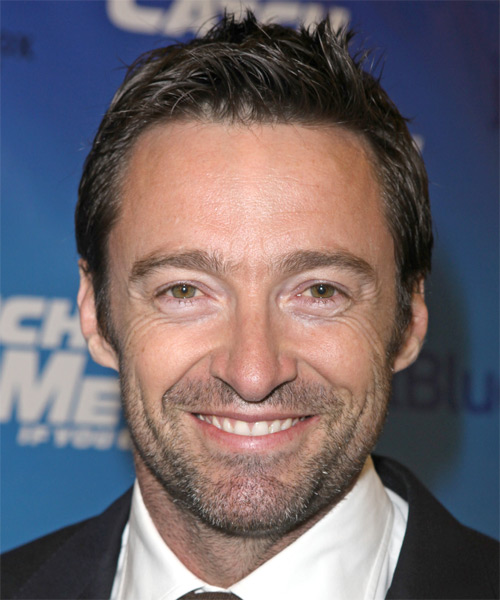 Hugh Jackman Short Straight Hairstyle - Medium Brunette (Ash)