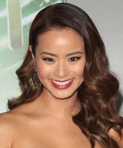 Jamie Chung Long Wavy Formal Wedding