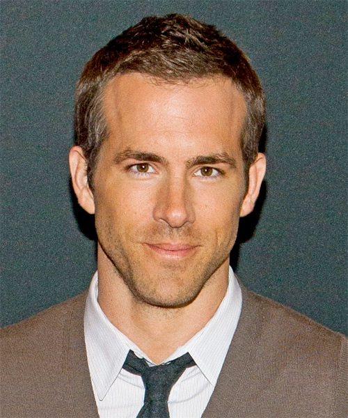 Ryan Reynolds Short Straight Hairstyle - Light Brunette