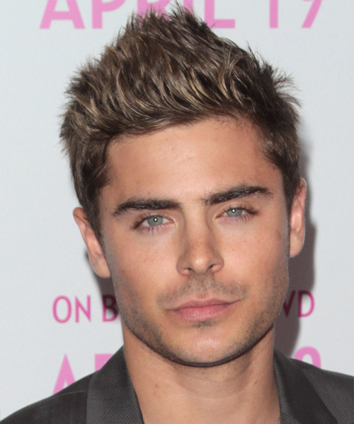 Zac Efron Short Straight Casual Hairstyle - Light Brunette Hair Color