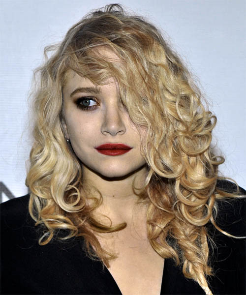 Mary Kate Olsen Long Curly Casual Hairstyle