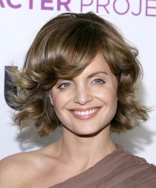 Mena Suvari - Formal Medium Wavy Hairstyle