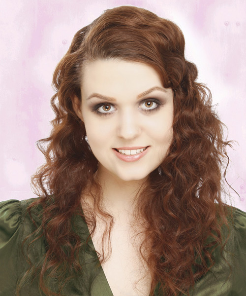 Long Curly Casual Hairstyle - Medium Brunette (Auburn)