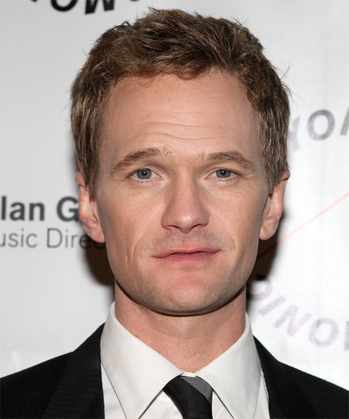 Neil Patrick Harris Short Straight Casual Hairstyle - Dark Blonde Hair Color