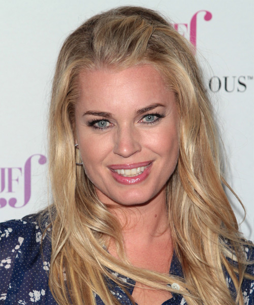 Rebecca Romijn Long Straight Casual Hairstyle - Dark Blonde Hair Color