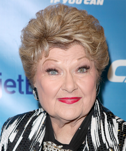 Marilyn Maye Short Wavy Formal Hairstyle - Dark Blonde Hair Color