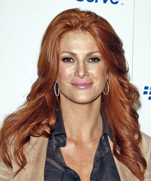 Angie Everhart Long Wavy Casual Hairstyle
