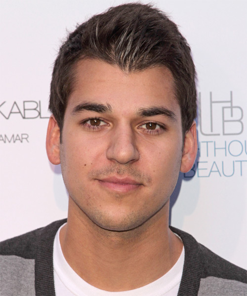 Robert Kardashian Jr Short Straight Casual Hairstyle - Medium Brunette Hair Color