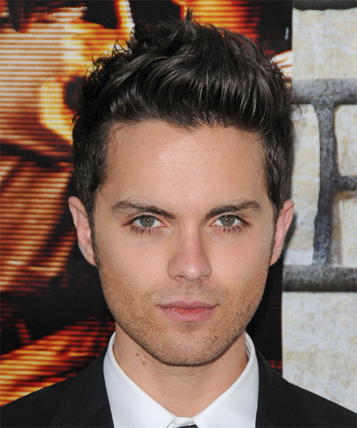 Thomas Dekker Short Straight Casual Hairstyle - Dark Brunette Hair Color