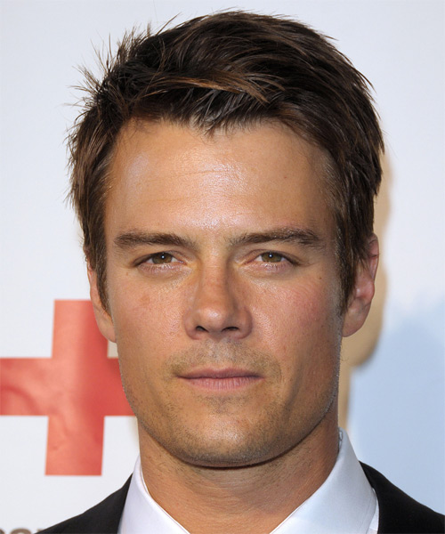 Josh Duhamel Short Straight Hairstyle - Dark Brunette (Auburn)