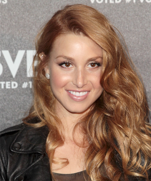 Whitney Port Long Wavy Casual Hairstyle - Dark Blonde Hair Color