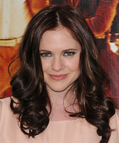 Caitlin Custer  Long Wavy Hairstyle - Dark Brunette (Chocolate)