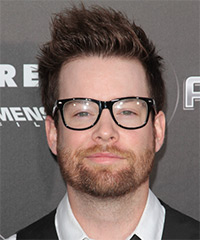 David Cook Short Straight Casual Hairstyle - Medium Brunette Hair Color