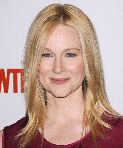 Laura Linney Long Straight Casual Hairstyle - Light Blonde Hair Color