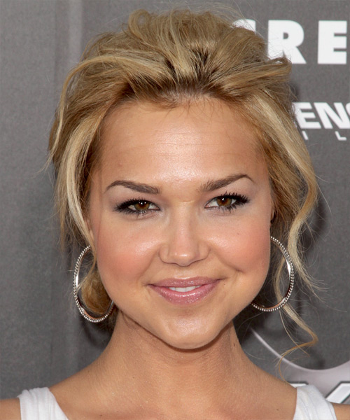 Arielle Kebbel Casual Curly Updo Hairstyle - Light Blonde