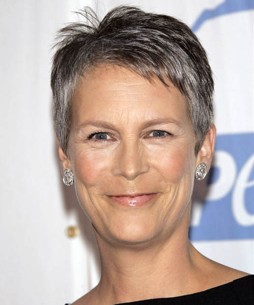 Jamie Lee Curtis Short Straight Hairstyle