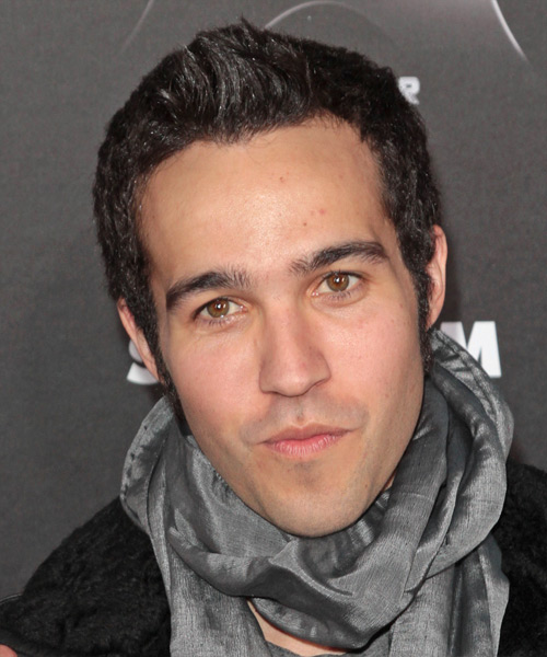 Pete Wentz Short Straight Hairstyle - Dark Brunette