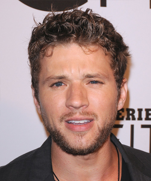 Ryan Phillippe Short Curly Casual Hairstyle - Dark Blonde Hair Color