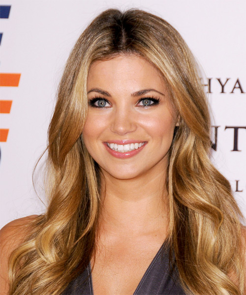 Amber Lancaster Long Wavy Hairstyle - Medium Blonde (Golden)