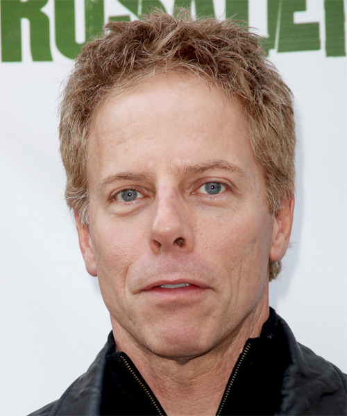 Greg Germann Short Straight Hairstyle - Medium Blonde