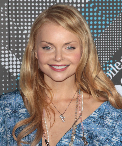 Izabella Miko Long Wavy Hairstyle - Medium Blonde