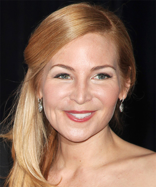 Jennifer Westfeldt  - Casual Half Up Long Straight Hairstyle