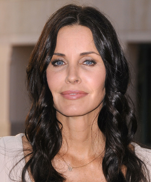 Courteney Cox Long Wavy Casual Hairstyle - Black Hair Color