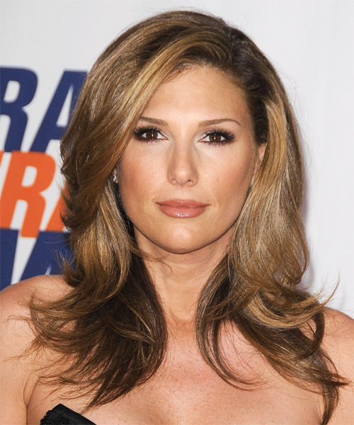 Daisy Fuentes Long Straight Formal Hairstyle - Medium Brunette Hair Color