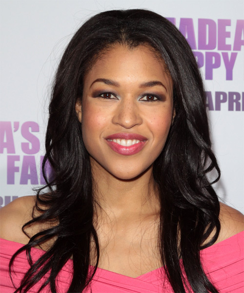 Kali Hawk  Long Straight Hairstyle - Black
