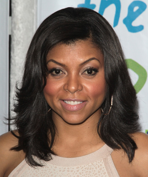 Taraji P. Henson Medium Straight Hairstyle - Black