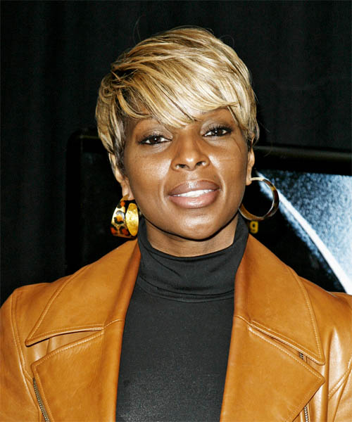 Mary J. Blige - Casual Short Straight Hairstyle