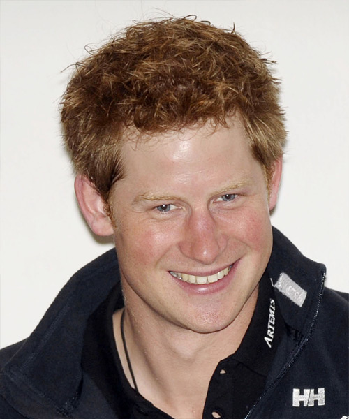 Prince Harry Short Straight Hairstyle - Light Red (Ginger)