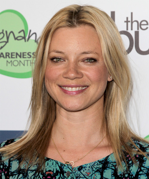 Amy Smart Medium Straight Hairstyle - Light Blonde