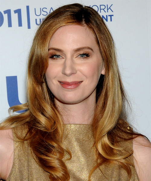 Anne Dudek  Long Wavy Hairstyle - Dark Blonde (Copper)