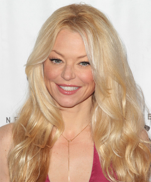 Charlotte Ross Long Wavy Hairstyle - Medium Blonde