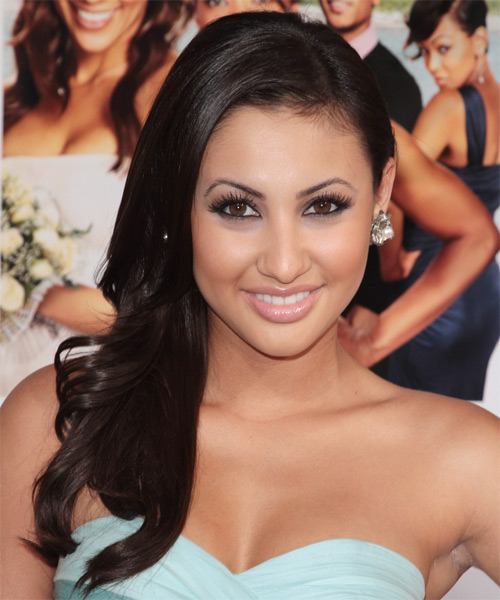 Francia Raisa Long Wavy Formal Hairstyle - Black Hair Color