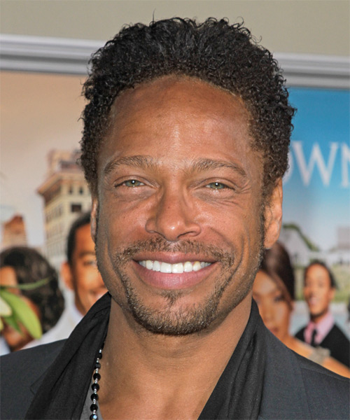 Gary Dourdan  Short Curly Afro Hairstyle - Black