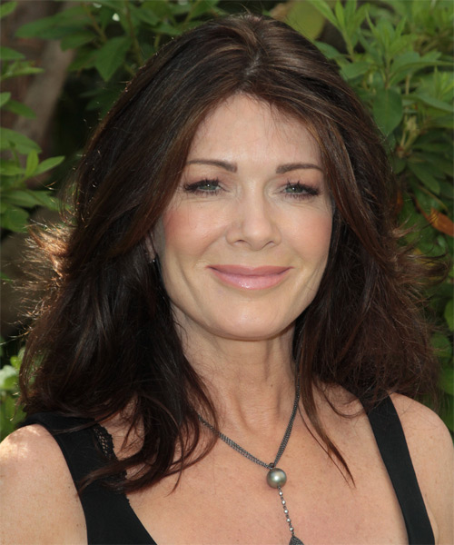 Lisa Vanderpump Medium Straight Casual Hairstyle - Dark Brunette Hair Color