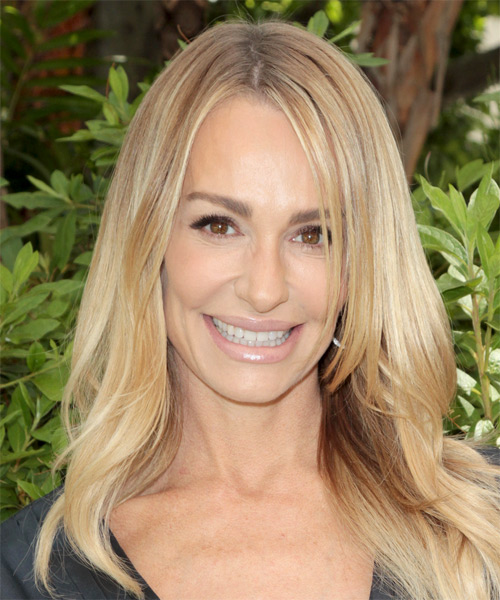 Taylor Armstrong Long Straight Casual Hairstyle - Medium Blonde Hair Color