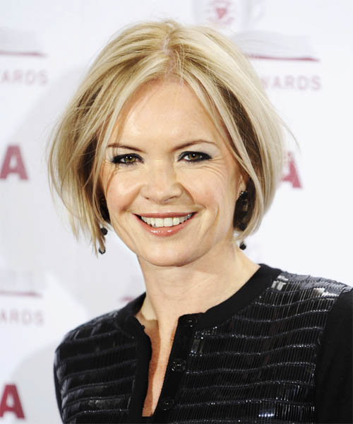 Mariella Frostrup - Casual Short Straight Hairstyle